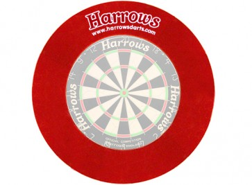 Harrows Dartboard Surround Wandschutz in rot