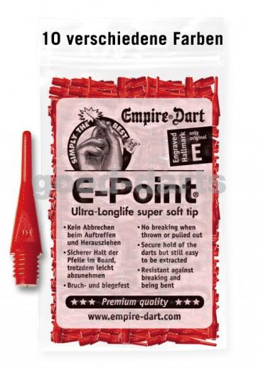 500 kurze E-Point Dartspitzen: Stecken fest in der Dartscheibe - ohne Nachfedern