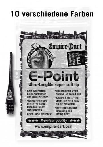100 Stk. E-Point Soft Dartspitzen (lang)