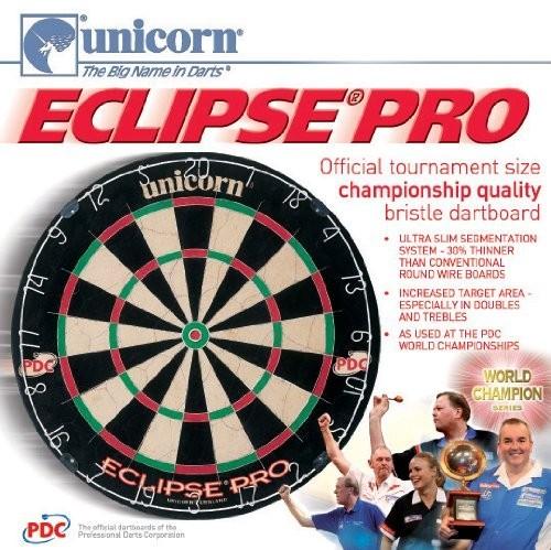 unicorn eclipse pro bristle dartboard inkl 6 steel darts good. Black Bedroom Furniture Sets. Home Design Ideas