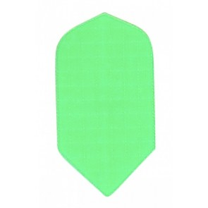 Nylon Longlife Stoff Flights - Slim - Fluro Grün