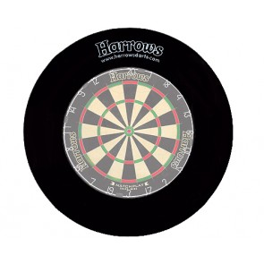 Harrows Dartboard Surround Wandschutz in schwarz