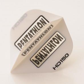 5 x Sets of Pentathlon weiß Super Tough HD150 Dart Flights, Standard