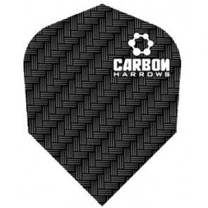 F7121 Carbon Black Std Dart Flights 3 sets pro pack (9 flights in total)