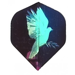 2D Hologram weiße Taube Fullsize Flights