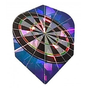 2D Hologram Dartboard Fullsize Flights
