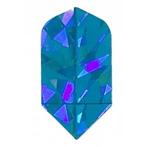 2D Hologram einfarbige Slim Flights (blau)