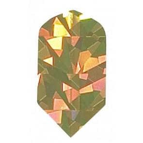 2D Hologram einfarbige Slim Flights gold