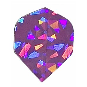 2D Hologram einfarbige Fullsize Flights lila