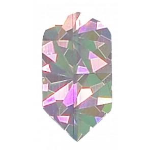 2D Hologram einfarbige Slim Flights silber