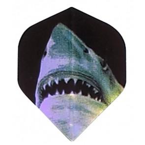 2D Hologram Hai Fullsize Flights schwarz