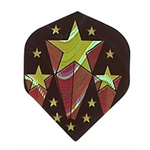 2D Hologram goldene Sterne Fullsize Flights