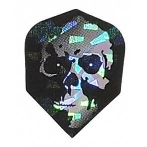 2D Hologram silber Totenkopf Fullsize Flights