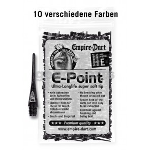 100 Stk. E-Point Soft Dartspitzen (lang)