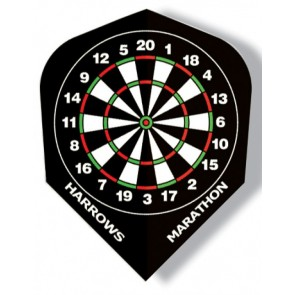 Harrows Marathon Dart Board Fullsize Flights