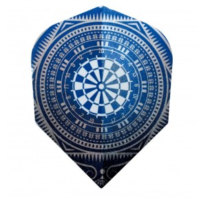 Harrows Quadro Blue Dart Board Fullsize Flights