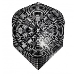 Harrows Quadro Grey Dart Board Fullsize Flights