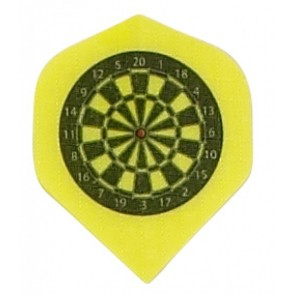 Nylon Fabric Yellow Dartboard Fullsize Flights