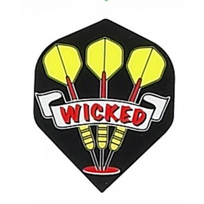 "Ruthless ""Wicked Darts"" Flights - Schwarz"
