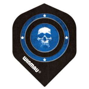 Winmau 6900-112 Mega Std Skull in Blue Circle Fullsize Flight