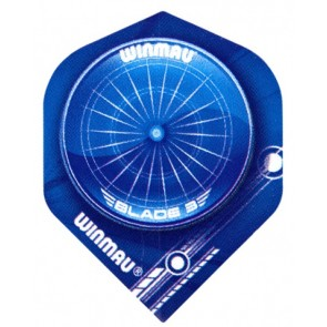Winmau 6900-127 Mega Std Blue Dartboard Fullsize Flight