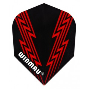 Winmau 6900-38 Mega Std Red Lightning Fullsize Flight