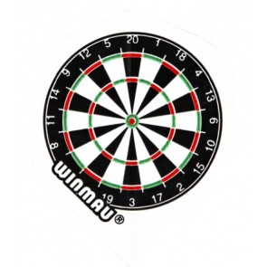 Winmau 6900-145 Mega Std White Dartboard Fullsize Flight