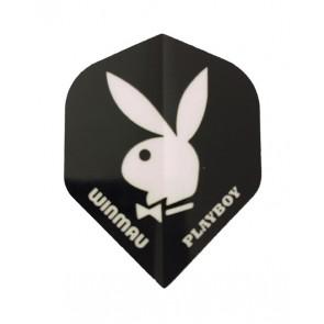 Winmau Playboy Dart Flights schwarz/weiß